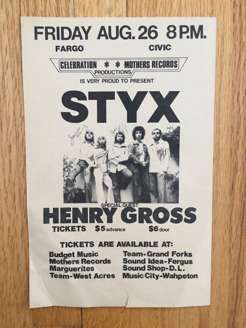 STYX AND HENRY GROSS AT FARGO CIVIC