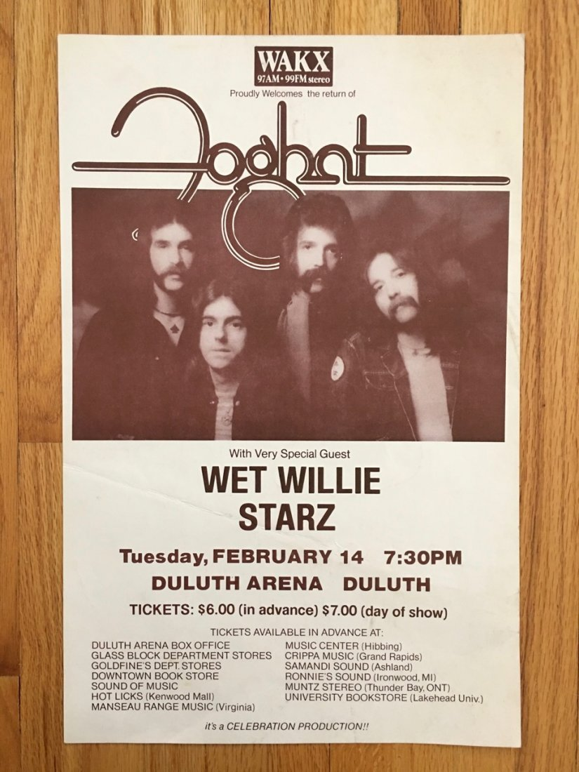 FOGHAT AND WET WILLIE AT FARGO ARENA