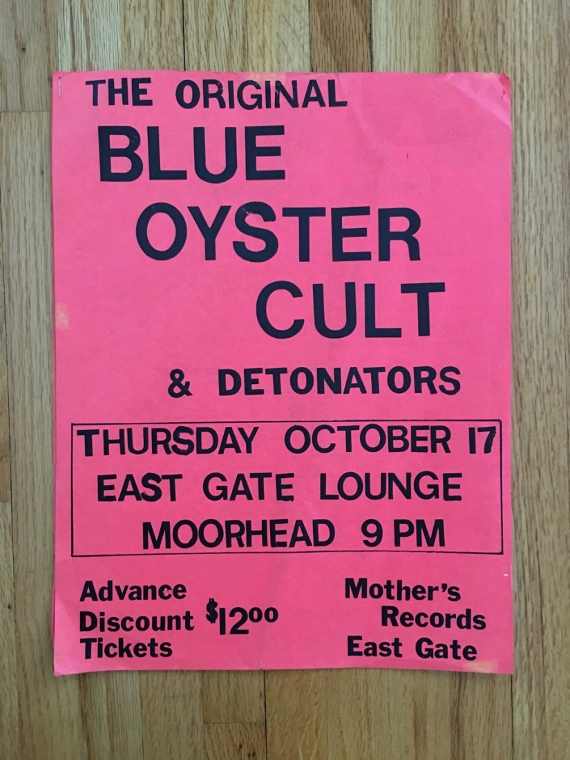 BLUE OYSTER CULT TOUR POSTER