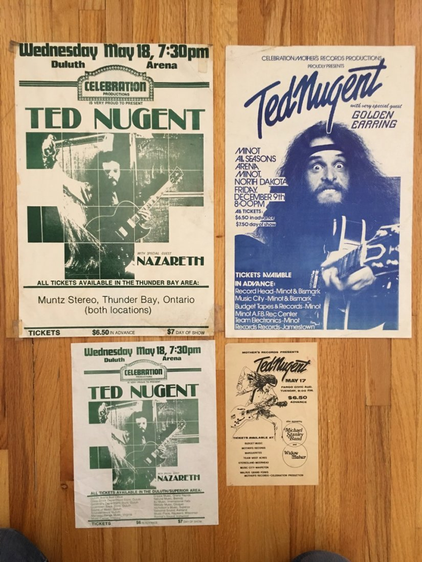 TED NUGENT POSTER COLLECTION