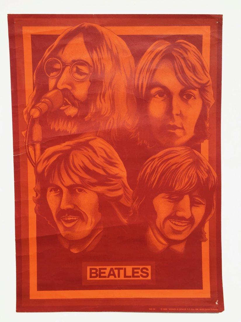 VERY RARE BEATLES 1969 POSTER - WIZARD & GENIUS