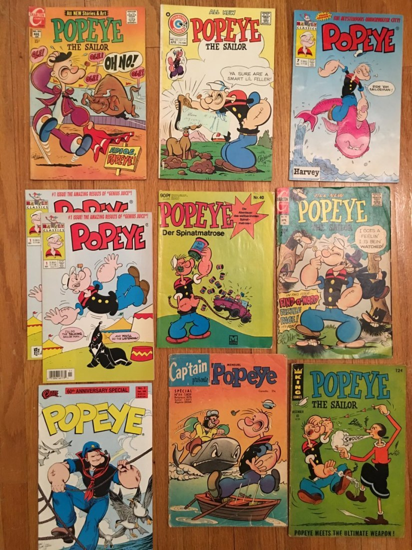POPEYE COMIC BOOKS - INCLUDING A TWO #1 FIRST ISSUES !