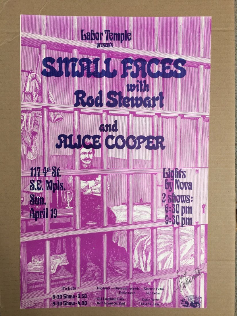 SMALL FACES - ROD STEWART at the LABOR TEMPLE