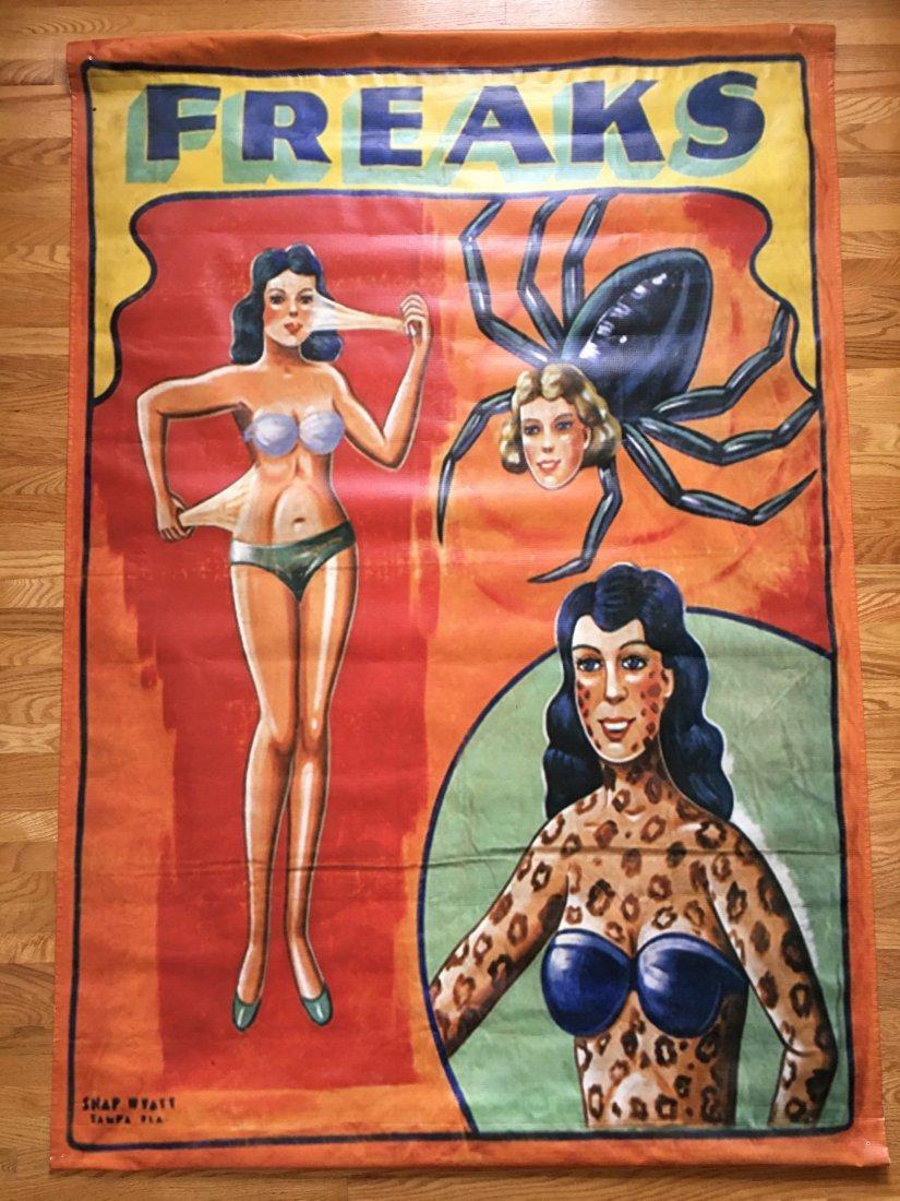 FREAKS - SNAP WYATT Sideshow Circus Banner