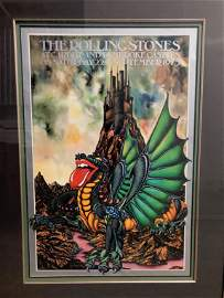 RARE CARDIFF CASTLE ROLLING STONES FRAMED PRINT