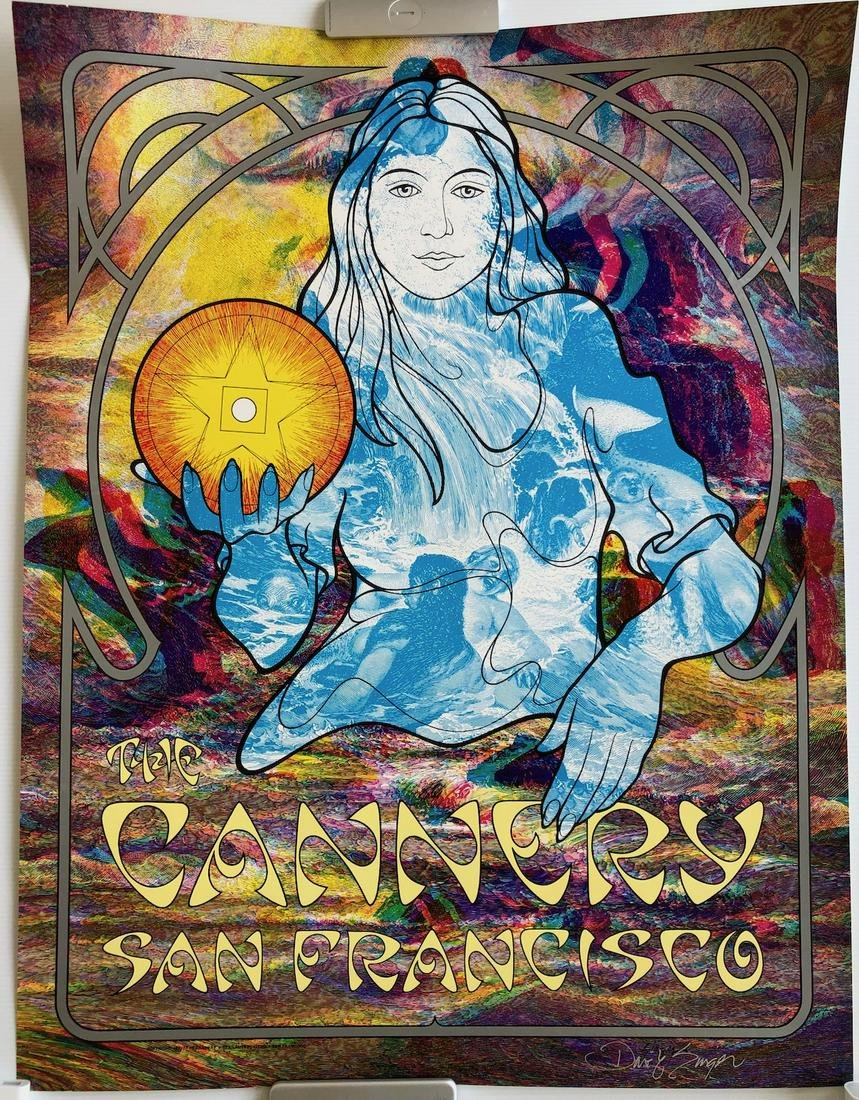 RARE SIGNED THE CANNERY POSTER by SINGER