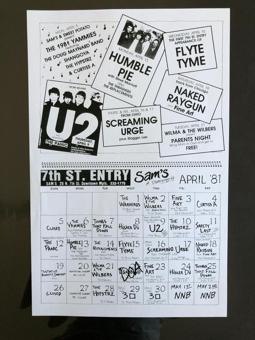 U2 FIRST CONCERT IN MINNEAPOLIS - FIRST US TOUR