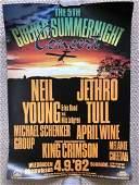 NEIL YOUNG, JETHRO TULL, KING CRIMSON 1982 TOUR POSTER