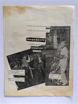 SUPER RARE EARLY 1978 THE MEGADEATH FLYER