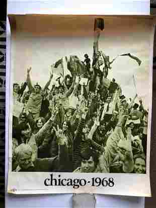 CHICAGO 1968 PEACEFUL PROTEST POSTER SET
