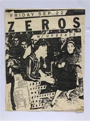 1980 PUNK ROCK FLYER - THE ZEROS