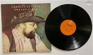SIGNED - Charlie Daniels - Uneasy Rider