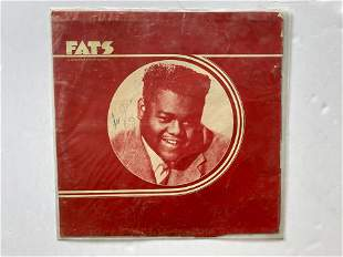 FATS DOMINO SIGNED RECORD STORE PROMO FLAT