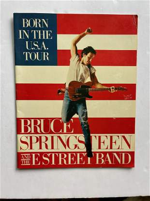 BRUCE SPRINGSTEEN BORN IN THE USA TOUR BOOK
