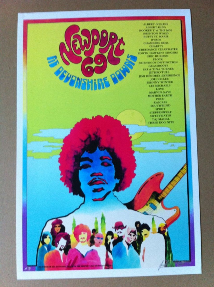 108: Newport 69 Litho - Reissue - Signed by Bob Masse