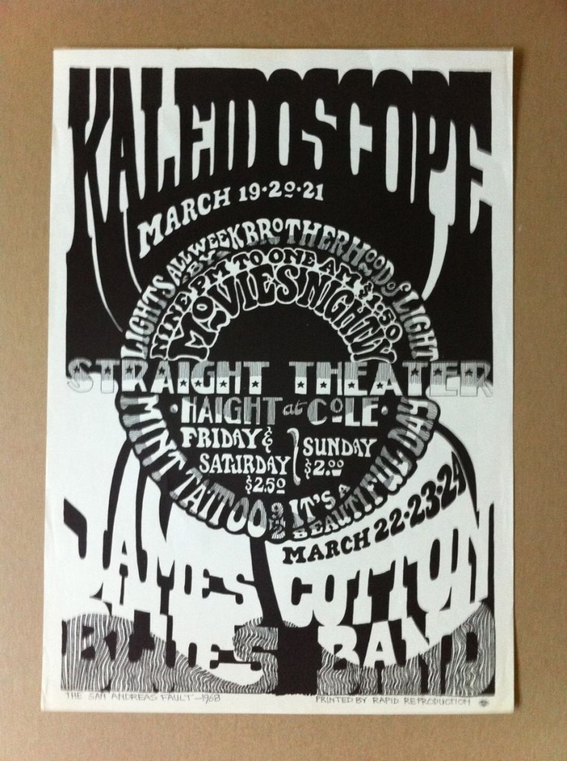 112: Straight Theater 1968 San Francisco Concert Poster