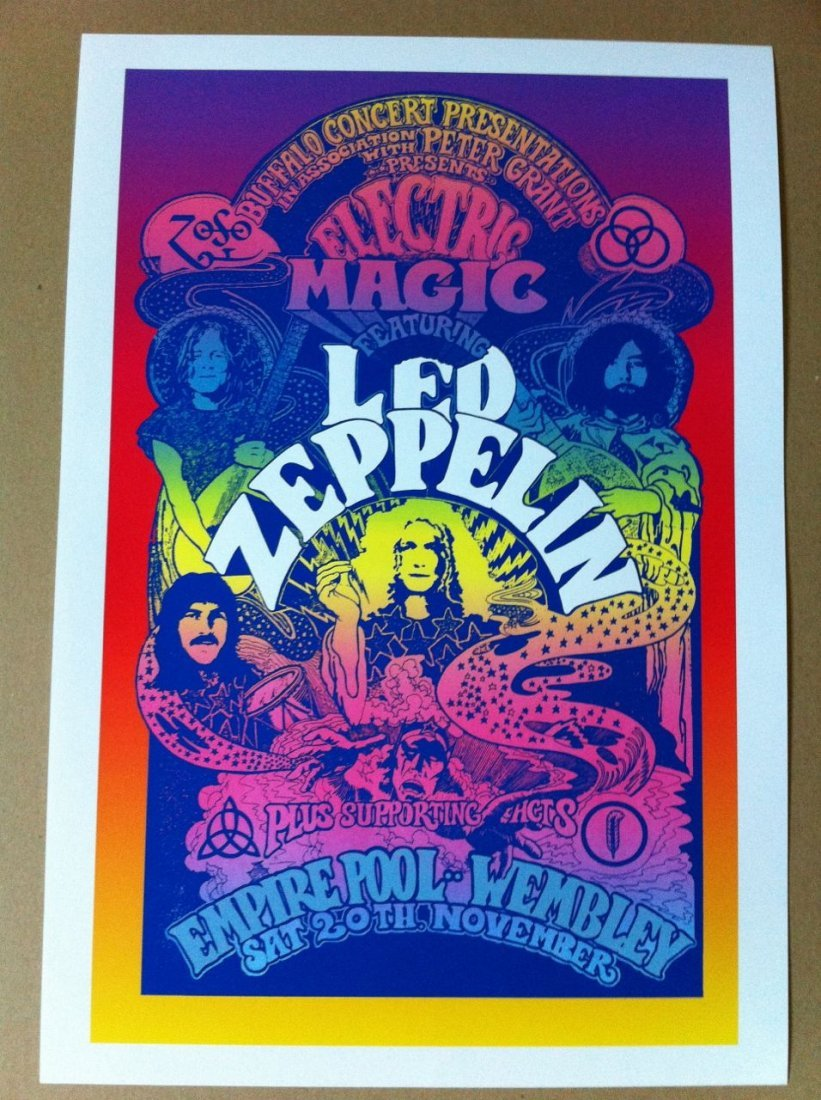 117: Led Zepplin Electric Magic Poster