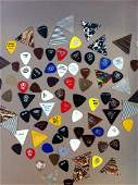 325: LOT OF 80+ GUITAR PICKS FROM 60s & 70s