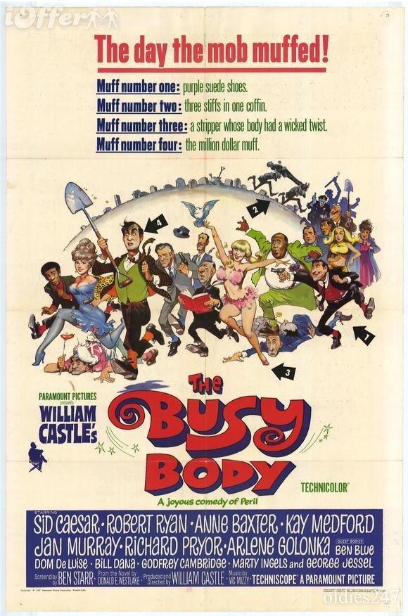 203: 1967 Richard Pryor Film The Busy Body 1-Sheet