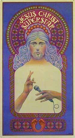 211: VINTAGE 1971 Jesus Christ Superstar poster BYRD