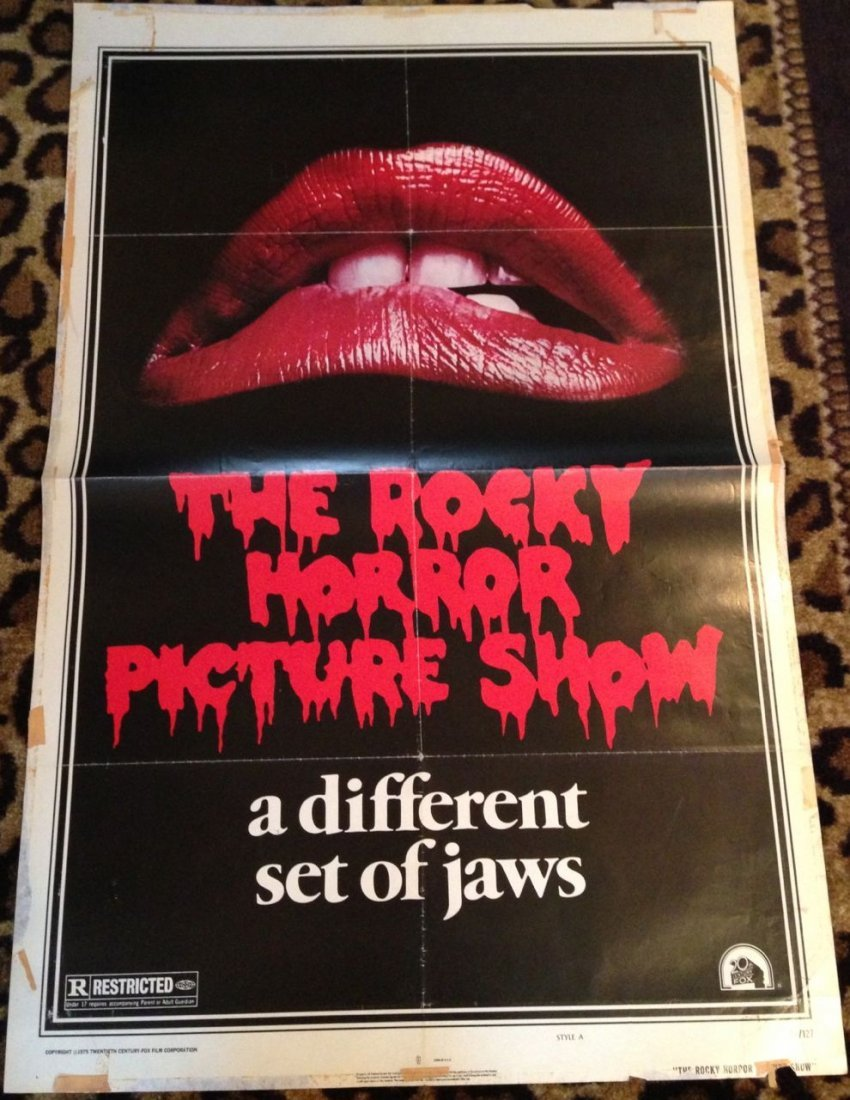 220: ROCKY HORROR PICTURE SHOW MOVIE POSTER 1975 !