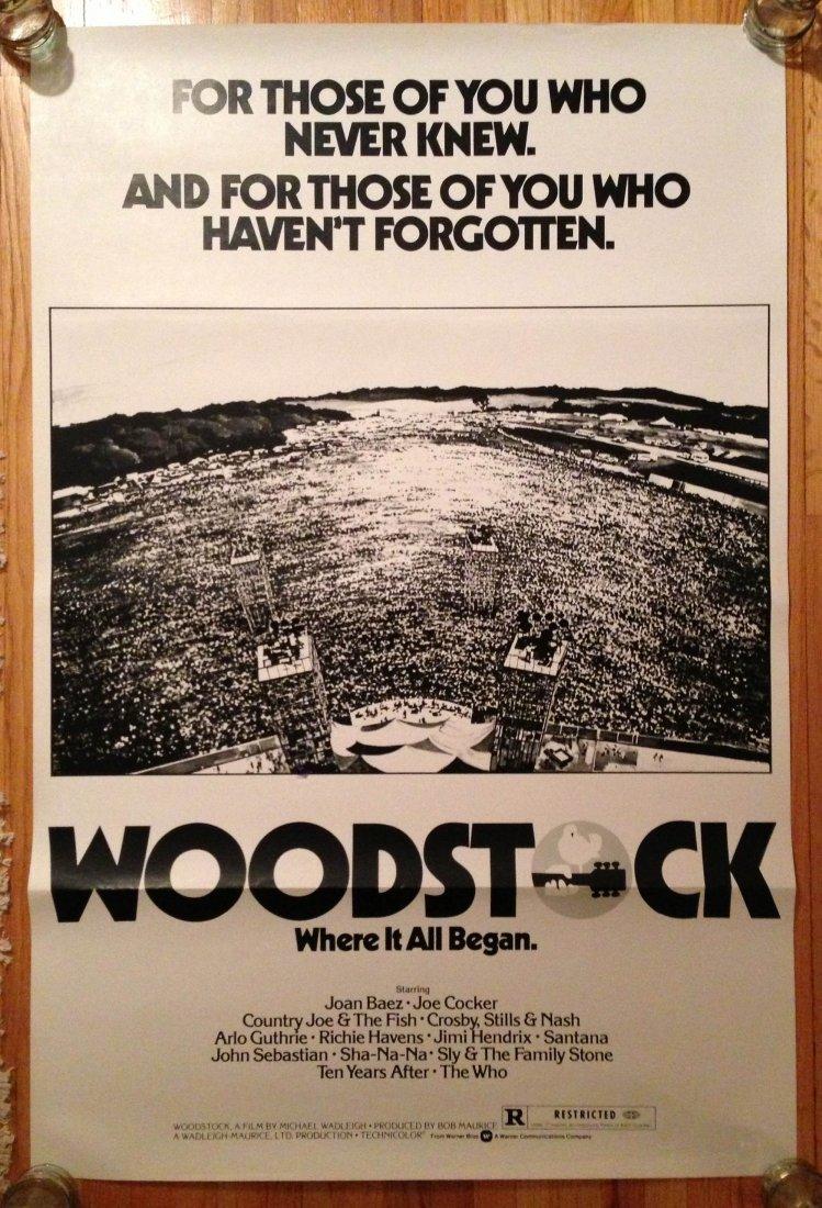 221: WOODSTOCK MOVIE POSTER - 1976