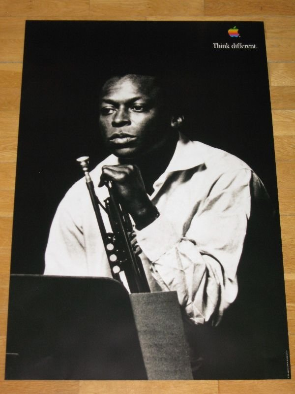 222: Rare Miles Davis Apple Think Different Poster
