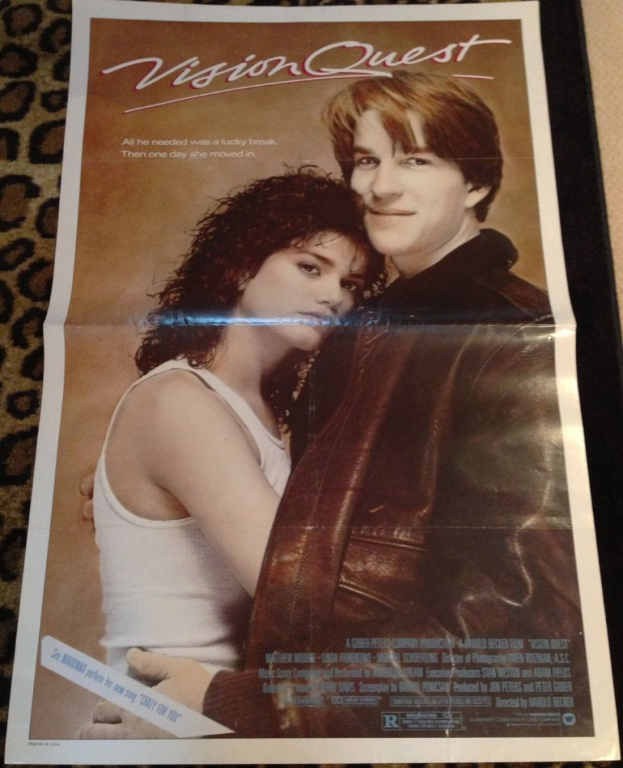 224: VISION QUEST - MADONNA - MOVIE POSTERS LOT x4
