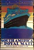 282: SOUTH AMERICA by ROYAL RAIL TRAVEL POSTER