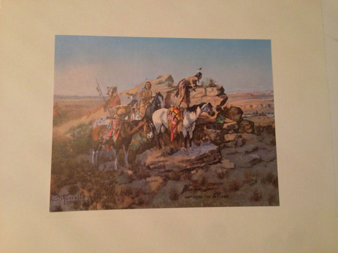 493: Set of Vintage Western Plates - C.W. Russell - 10