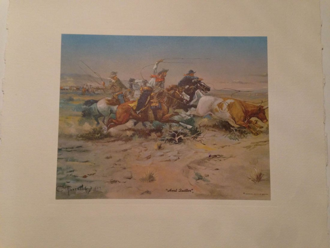 493: Set of Vintage Western Plates - C.W. Russell