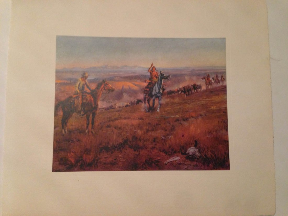 493: Set of Vintage Western Plates - C.W. Russell - 5