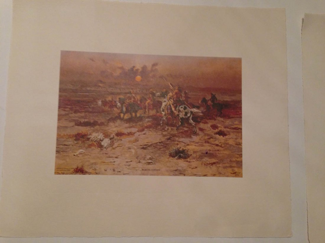 493: Set of Vintage Western Plates - C.W. Russell - 6