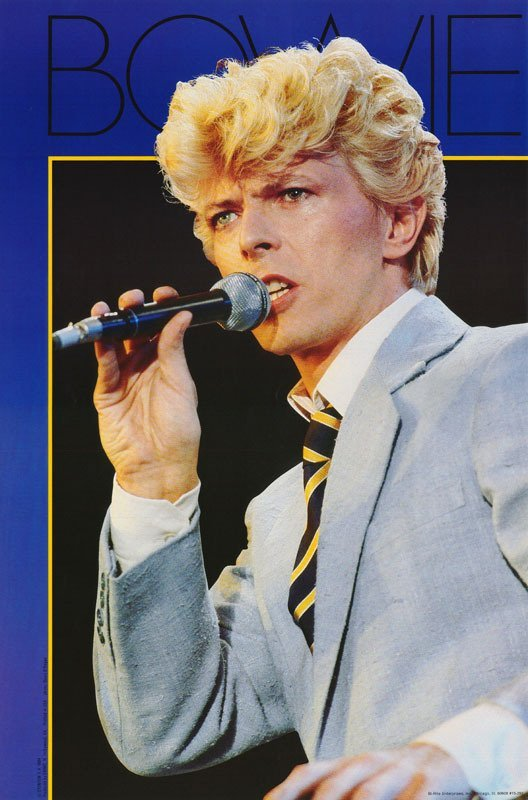 DAVID BOWIE 1984 - 30 Year Old Poster