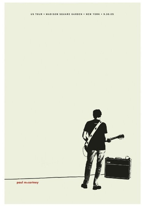 RARE LIMITED EDITION #21/100 PAUL McCARTNEY POSTER