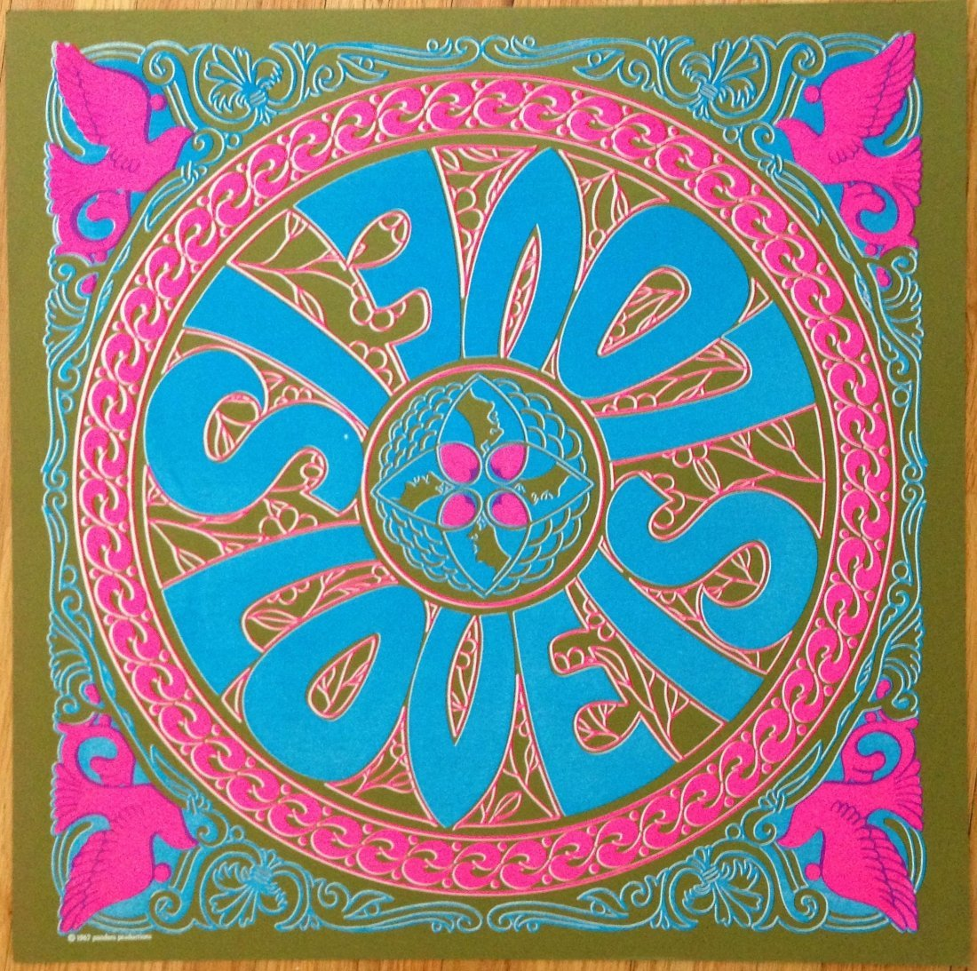 LOVE IS - VINTAGE HIPPY POSTER