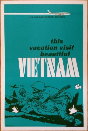 Vietnam Anti War Hippy Travel Poster