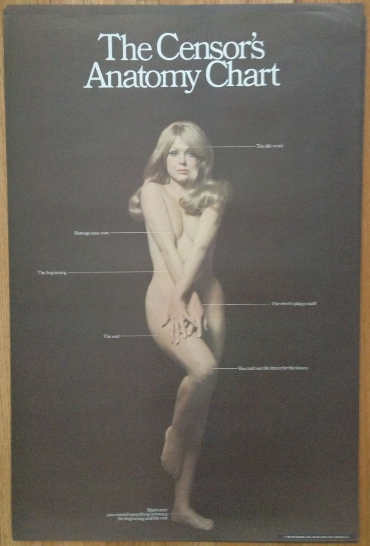 THE CENSOR'S ANATOMY CHART - HIPPY POSTER