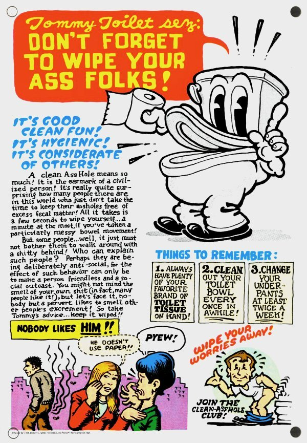 TOMMY TOILET POSTER - R.Crumb