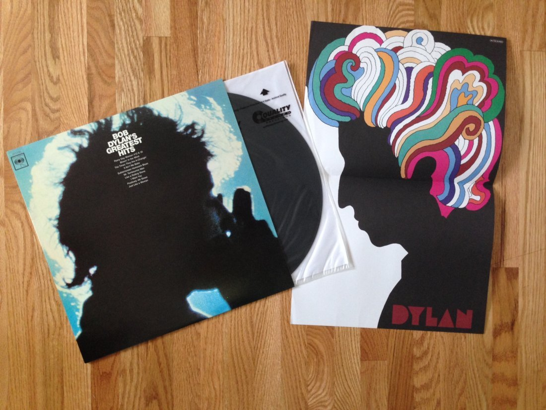 BOB DYLAN GREATEST HITS WITH POSTER INSERT
