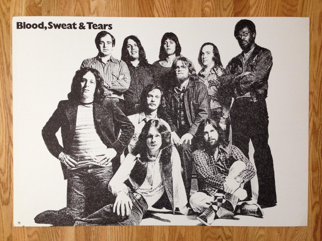 VINTAGE BLOOD SWEAT AND TEARS PROMO POSTER