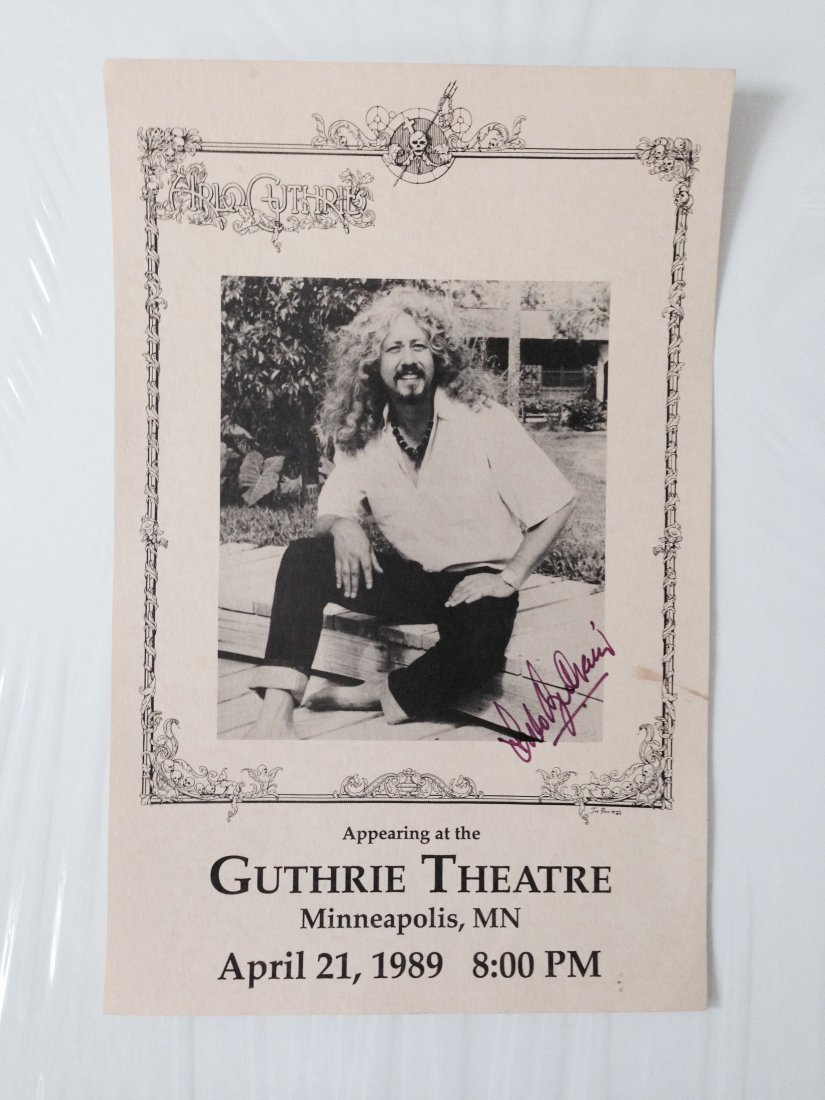 ARLO GUTHRIE 1989 SIGNED POSTER