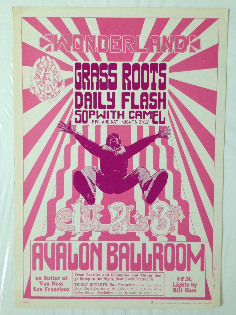 GRASS ROOTS FAMILY DOG AVALON POSTER - 1966