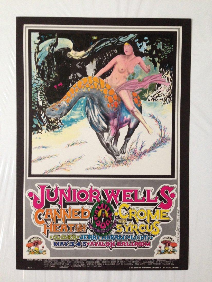 JUNIOR WELLS AVALON BALLROOM POSTER 1986