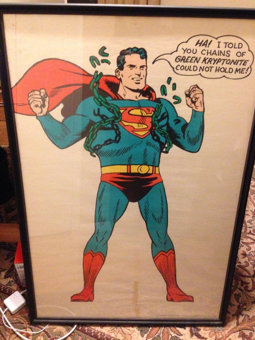 1966 vintage superman poster