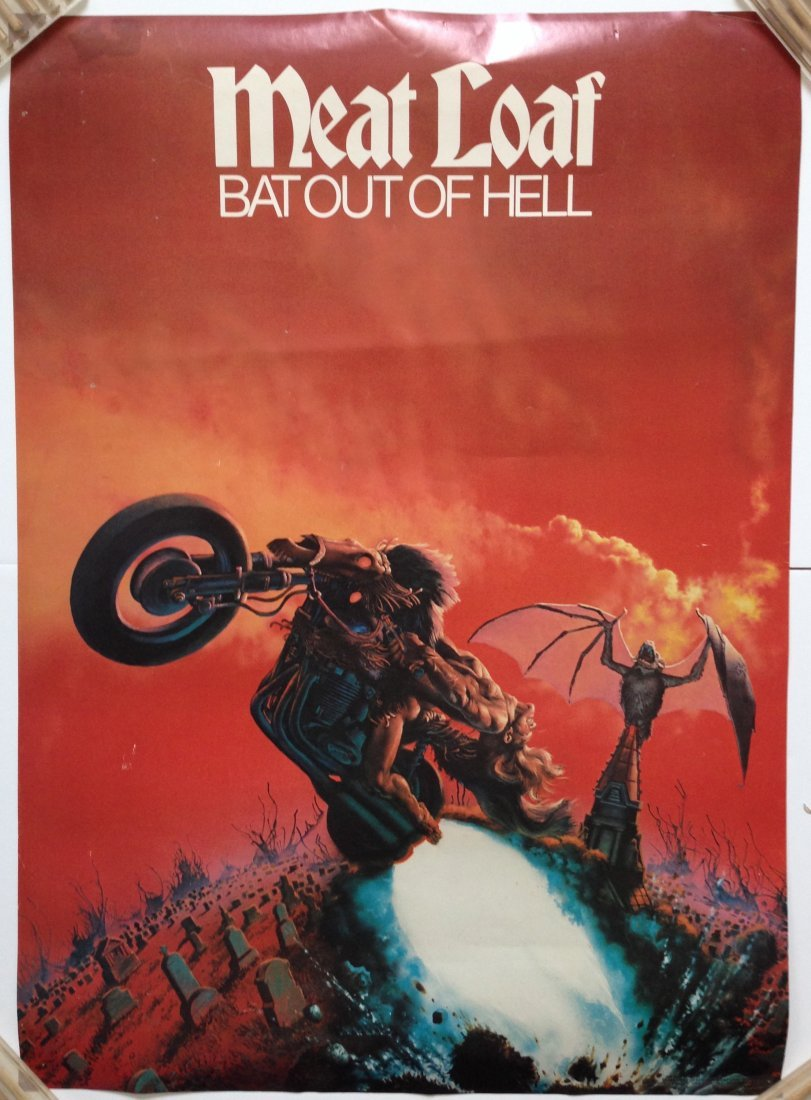 MEAT LOAF BAT OUT OF HELL POSTER - 1978 ! ! !