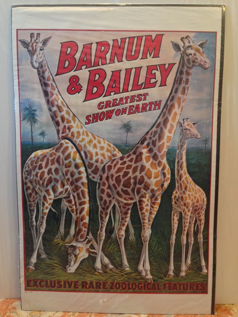 BARNUM & BAILEY ORIGINAL Vintage CIRCUS POSTER -