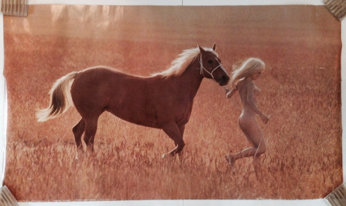 Naked Hippy Woman with Horse