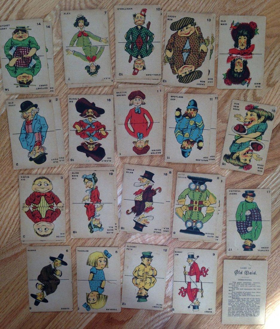 MILTON BRADLEY ANTIQUE CARD GAME OLD MAID