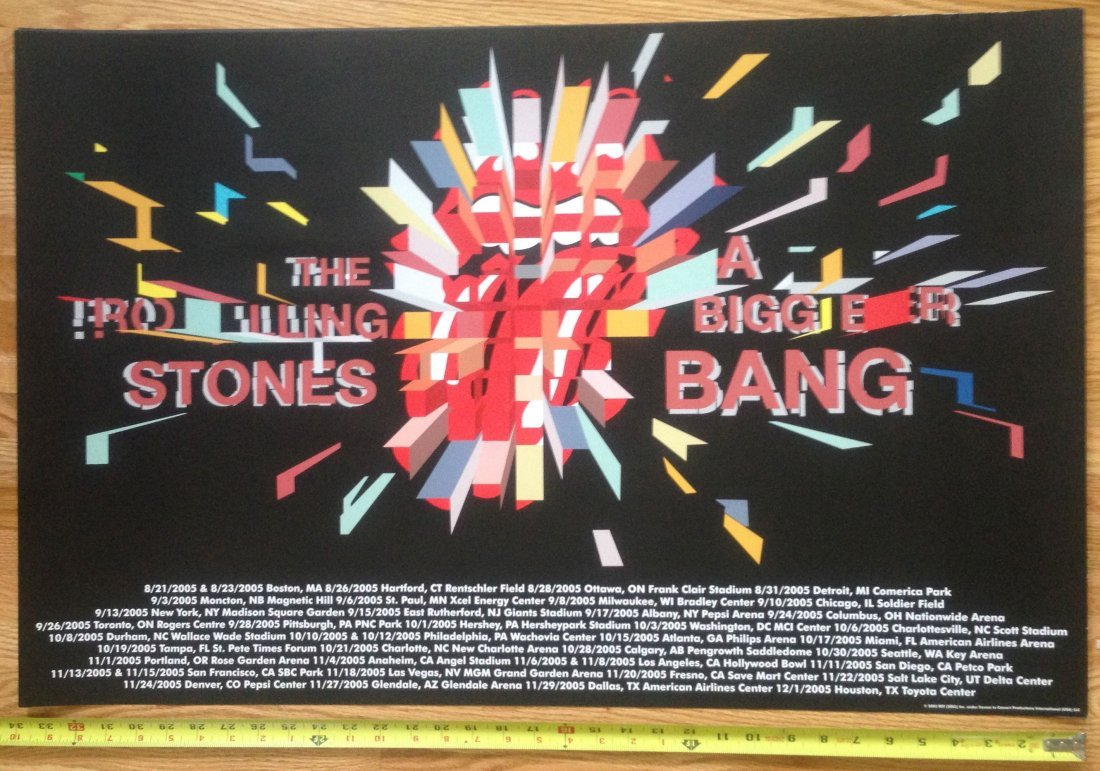 The Rolling Stones - A Bigger Bang Tour Poster - 2005